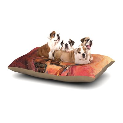 Josh Serafin Catch the Wind Dog Pillow with Fleece Cozy Top Size: Large (50 W x 40 D x 8 H)