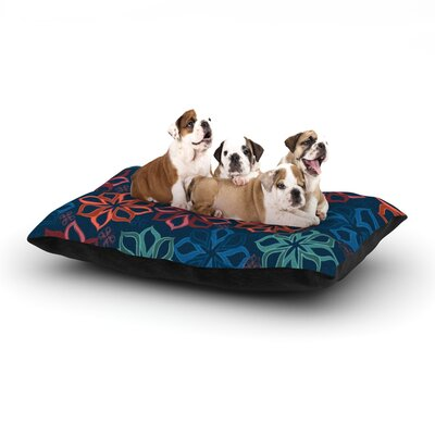 Jolene Heckman Floral Charm Flowers Dog Pillow with Fleece Cozy Top Size: Large (50 W x 40 D x 8 H)