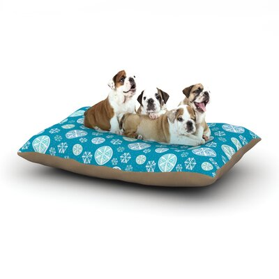 Julie Hamilton Snowflake Sky Dog Pillow with Fleece Cozy Top Size: Large (50 W x 40 D x 8 H)