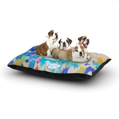 Kira Crees Origami Strings Dog Pillow with Fleece Cozy Top Size: Small (40 W x 30 D x 8 H)