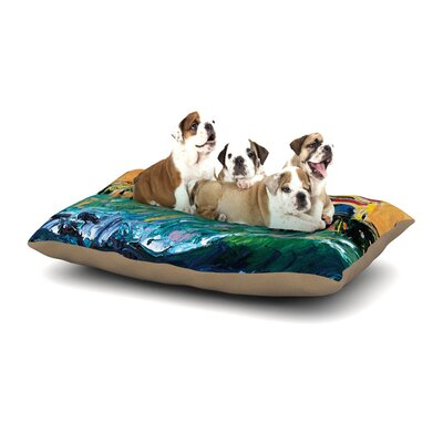 Josh Serafin Offshore Beauty Coastal Dog Pillow with Fleece Cozy Top Size: Small (40 W x 30 D x 8 H)
