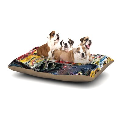 Josh Serafin Cinque Terre Dog Pillow with Fleece Cozy Top Size: Large (50 W x 40 D x 8 H)