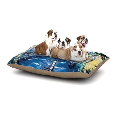 Josh Serafin Venice Travel Italy Dog Pillow with Fleece Cozy Top Size: Large (50 W x 40 D x 8 H)