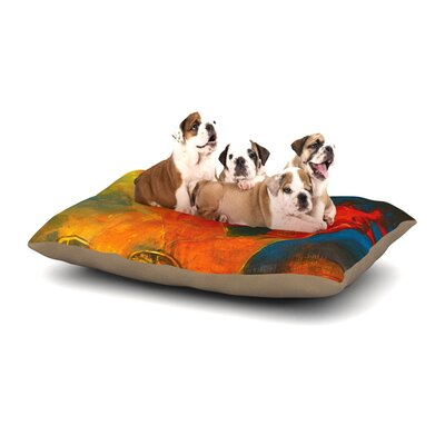 Josh Serafin Whats Beneath My Feet Fish Seagull Dog Pillow with Fleece Cozy Top Size: Small (40 W x 30 D x 8 H)