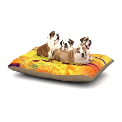 Josh Serafin Pool of Life Abstract Dog Pillow with Fleece Cozy Top Size: Large (50 W x 40 D x 8 H)