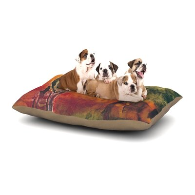 "Josh Serafin 'Par' Golf Dog Pillow with Fleece Cozy Top Size: Large (50"" W x 40"" D x 8"" H) EASR2543 39117297"