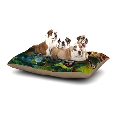 Josh Serafin Slidetackle Soccer Dog Pillow with Fleece Cozy Top Size: Large (50 W x 40 D x 8 H)