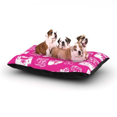 Camera Dog Pillow with Fleece Cozy Top Size: Small (40 W x 30 D x 8 H)