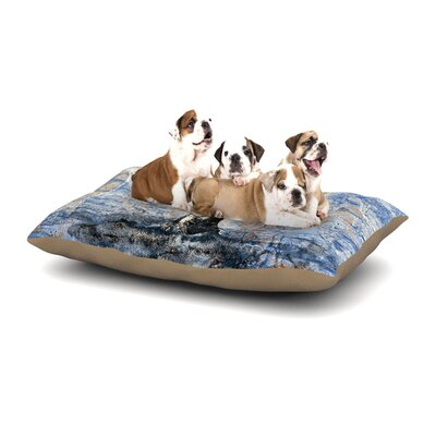 Josh Serafin Whale Tail Coastal Painting Dog Pillow with Fleece Cozy Top Size: Large (50 W x 40 D x 8 H)