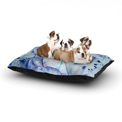 Kira Crees Koi Playing Dog Pillow with Fleece Cozy Top Size: Large (50 W x 40 D x 8 H)