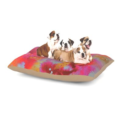 Kira Crees Falling Paradise Dog Pillow with Fleece Cozy Top Size: Large (50 W x 40 D x 8 H)