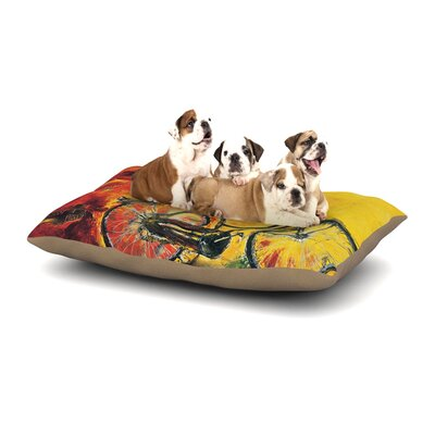 Josh Serafin To Go Bicycle Dog Pillow with Fleece Cozy Top Size: Large (50 W x 40 D x 8 H)