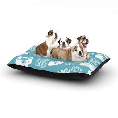 Camera G. Blu Dog Pillow with Fleece Cozy Top Size: Small (40 W x 30 D x 8 H)