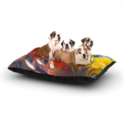Kristin Humphrey Progression Dog Pillow with Fleece Cozy Top Size: Small (40 W x 30 D x 8 H)