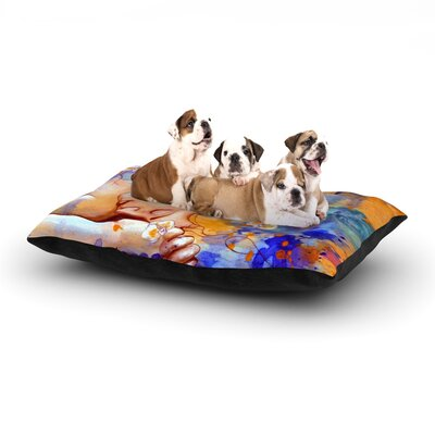 Kira Crees A Deeper Sleep Dog Pillow with Fleece Cozy Top Size: Small (40 W x 30 D x 8 H)
