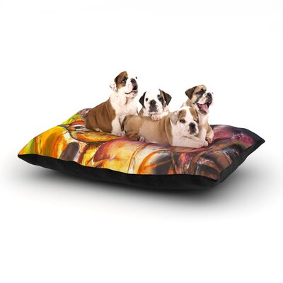 Kristin Humphrey In Depth Dog Pillow with Fleece Cozy Top Size: Small (40 W x 30 D x 8 H)