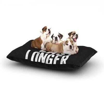 Take a Picture Dog Pillow with Fleece Cozy Top Size: Small (40 W x 30 D x 8 H)