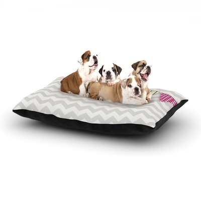 Flags 1 Dog Pillow with Fleece Cozy Top Size: Large (50 W x 40 D x 8 H)