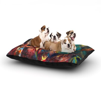 Kristin Humphrey Growth Dog Pillow with Fleece Cozy Top Size: Large (50 W x 40 D x 8 H)