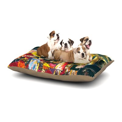 Josh Serafin Alimentari Painting Dog Pillow with Fleece Cozy Top Size: Large (50 W x 40 D x 8 H)