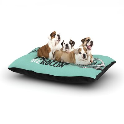 Picture Me Rollin Dog Pillow with Fleece Cozy Top Size: Large (50 W x 40 D x 8 H)