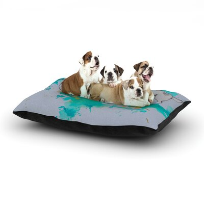 Kira Crees Hunting for Jazz Dog Pillow with Fleece Cozy Top Size: Large (50 W x 40 D x 8 H)