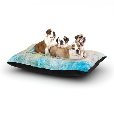 Life is Art Dog Pillow with Fleece Cozy Top Size: Small (40 W x 30 D x 8 H)