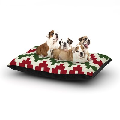 Christmas Gram Chevron Dog Pillow with Fleece Cozy Top Size: Small (40 W x 30 D x 8 H)