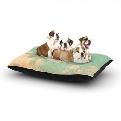 KESS Original Serenity Dog Pillow with Fleece Cozy Top Size: Large (50 W x 40 D x 8 H)
