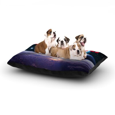 Bazinga Space Dog Pillow with Fleece Cozy Top Size: Large (50 W x 40 D x 8 H), Color: Purple