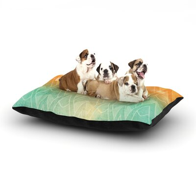 KESS Original Deco II Dog Pillow with Fleece Cozy Top Size: Small (40 W x 30 D x 8 H)