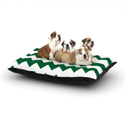 Candy Cane Chevron Dog Pillow with Fleece Cozy Top Size: Large (50 W x 40 D x 8 H), Color: Green