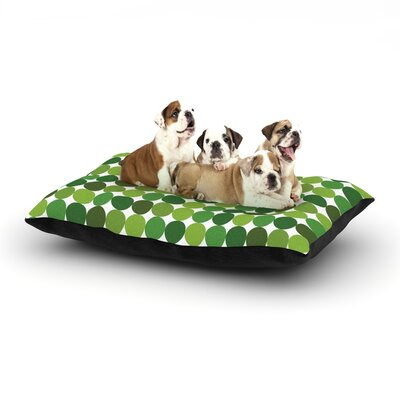 Noblefur Dots Dog Pillow with Fleece Cozy Top Size: Large (50 W x 40 D x 8 H), Color: Green