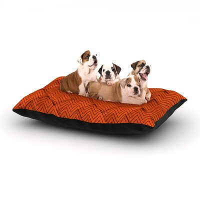 Chevron Weave Dog Pillow with Fleece Cozy Top Size: Small (40 W x 30 D x 8 H)