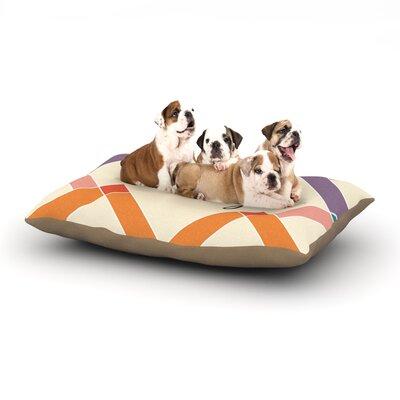 KESS Original Teddy Colorful Geometry Dog Pillow with Fleece Cozy Top
