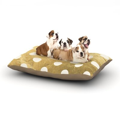 Scattered Dog Pillow with Fleece Cozy Top Size: Small (40 W x 30 D x 8 H), Color: Gold