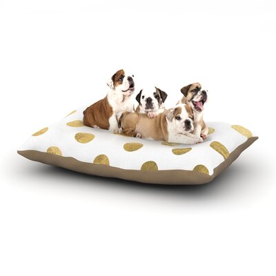 KESS Original Scattered Dog Pillow with Fleece Cozy Top Size: Large (50 W x 40 D x 8 H), Color: White