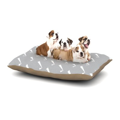 KESS Original Check You Out Dog Pillow with Fleece Cozy Top Size: Small (40 W x 30 D x 8 H)