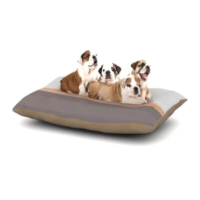 Spring Swatch - Grey Wood Dog Pillow with Fleece Cozy Top Size: Small (40 W x 30 D x 8 H)