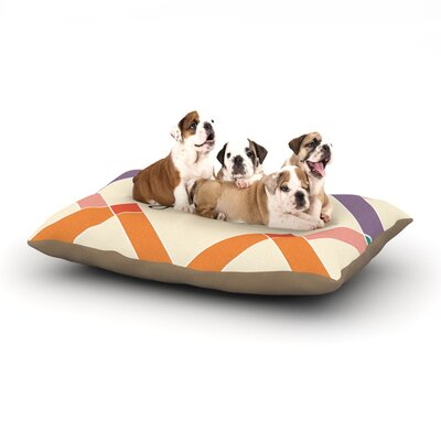 KESS Original Stella Colorful Geometry Dog Pillow with Fleece Cozy Top