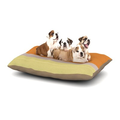 Spring Swatch - Tangerine Custard Dog Pillow with Fleece Cozy Top Size: Small (40 W x 30 D x 8 H)