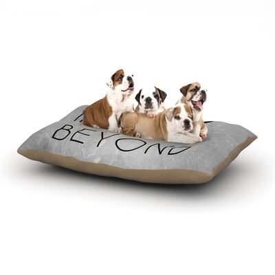 To Infinity & Beyond Dog Pillow with Fleece Cozy Top Size: Large (50 W x 40 D x 8 H)