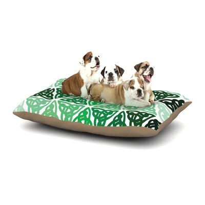Celtic Knot Green Forest Mint Dog Pillow with Fleece Cozy Top Size: Small (40 W x 30 D x 8 H)