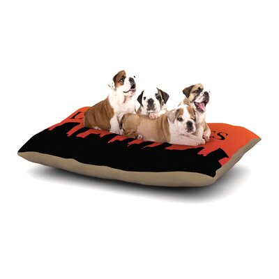 KESS Original Los Angeles Dog Pillow with Fleece Cozy Top Size: Small (40 W x 30 D x 8 H)