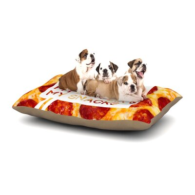 KESS Original Priorities Typography Food Dog Pillow with Fleece Cozy Top Size: Large (50 W x 40 D x 8 H)