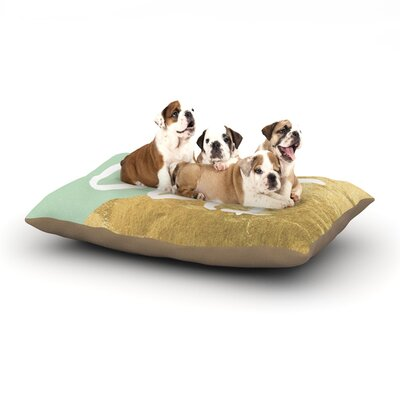 Oui Gold Dog Pillow with Fleece Cozy Top Size: Small (40 W x 30 D x 8 H)