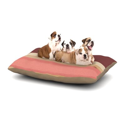 Spring Swatch - Marsala Strawberry Dog Pillow with Fleece Cozy Top Size: Small (40 W x 30 D x 8 H)