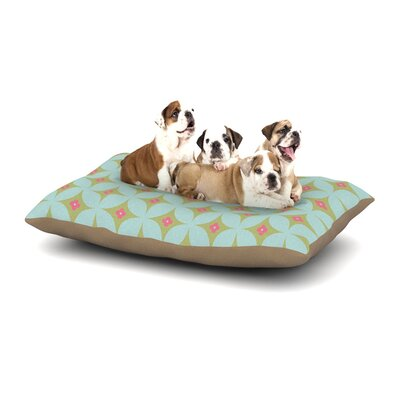 Retro Aquamarine Dog Pillow with Fleece Cozy Top Size: Large (50 W x 40 D x 8 H)