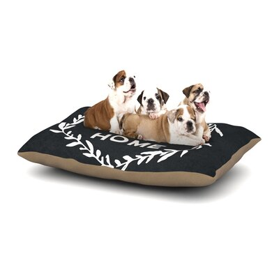 Home Sweet Home Dog Pillow with Fleece Cozy Top Size: Small (40 W x 30 D x 8 H)