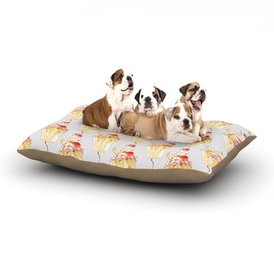 Louise Cake Cupcake Dog Pillow with Fleece Cozy Top Size: Small (40 W x 30 D x 8 H)
